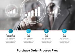 Purchase Order Process Flow Ppt Powerpoint Presentation Icon Graphics Example Cpb