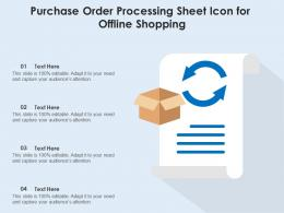 Purchase Order Processing Sheet Icon For Offline Shopping