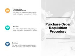 Purchase Order Requisition Procedure Ppt Powerpoint Presentation Portrait Cpb