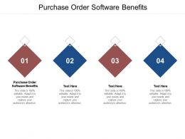 Purchase Order Software Benefits Ppt Powerpoint Presentation Icon Graphics Cpb