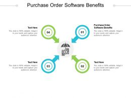 Purchase Order Software Benefits Ppt Powerpoint Presentation Inspiration Structure Cpb
