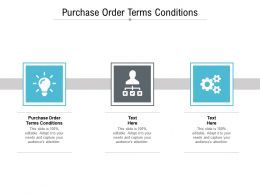 Purchase Order Terms Conditions Ppt Powerpoint Presentation Show Slide Cpb