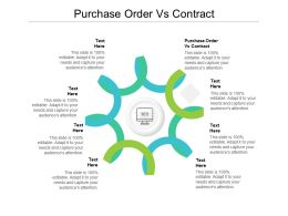 Purchase Order Vs Contract Ppt Powerpoint Presentation Styles Aids Cpb