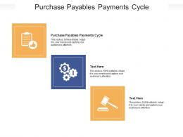 Purchase Payables Payments Cycle Ppt Powerpoint Presentation Outline Visuals Cpb