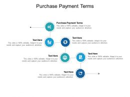 Purchase Payment Terms Ppt Powerpoint Presentation Infographic Template Gallery Cpb