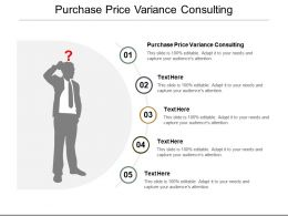 Purchase Price Variance Consulting Ppt Powerpoint Presentation Ideas Good Cpb