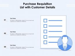 Purchase Requisition List With Customer Details