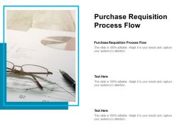 Purchase Requisition Process Flow Ppt Powerpoint Presentation Show Professional Cpb