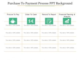 Purchase To Payment Process Ppt Background