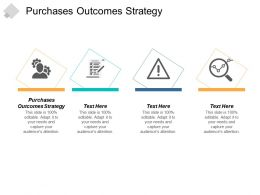 Purchases Outcomes Strategy Ppt Powerpoint Presentation Gallery Information Cpb