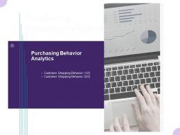 Purchasing Behavior Analytics Ppt Powerpoint Presentation Inspiration Graphics