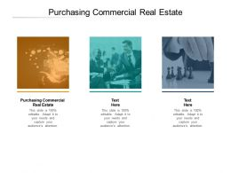 Purchasing Commercial Real Estate Ppt Powerpoint Presentation Inspiration Cpb