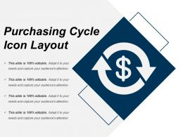 Purchasing Cycle Icon Layout