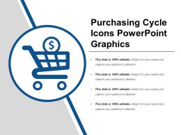Purchasing Cycle Icons Powerpoint Graphics