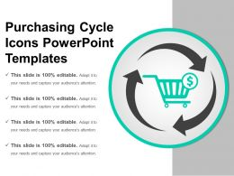 Purchasing Cycle Icons Powerpoint Templates