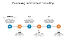 Purchasing Improvement Consulting Ppt Powerpoint Brochure Cpb