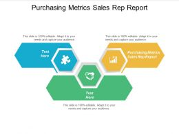 Purchasing Metrics Sales Rep Report Ppt Powerpoint Presentation Show Clipart Cpb