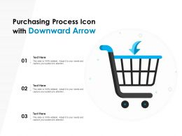 Purchasing Process Icon With Downward Arrow