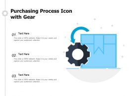 Purchasing Process Icon With Gear