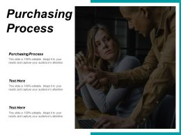 Purchasing Process Ppt Powerpoint Presentation Infographics Graphics Cpb