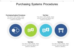 Purchasing Systems Procedures Ppt Powerpoint Presentation Outline Icons Cpb