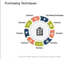 Purchasing Techniques Ppt Powerpoint Presentation Outline Example Introduction Cpb