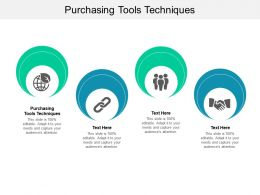Purchasing Tools Techniques Ppt Powerpoint Presentation Infographics Cpb
