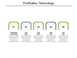 Purification Technology Ppt Powerpoint Presentation Infographic Template Demonstration Cpb