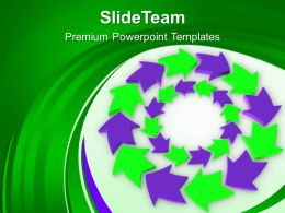 Purple And Green Circular Arrows Flow Powerpoint Templates Ppt Backgrounds For Slides 0213