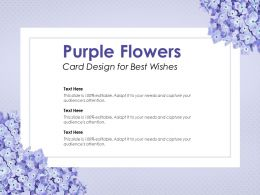 Purple Flowers Card Design For Best Wishes