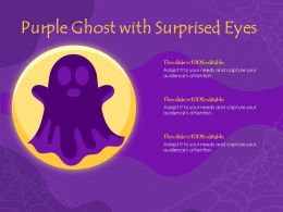 Purple Ghost With Surprised Eyes