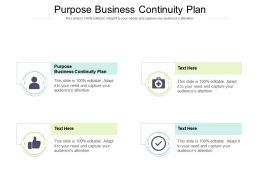 Purpose Business Continuity Plan Ppt Powerpoint Presentation Styles Template Cpb