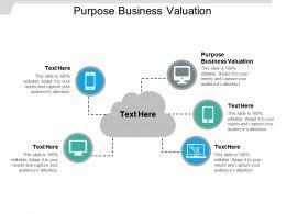 Purpose Business Valuation Ppt Powerpoint Presentation Slides Background Designs Cpb