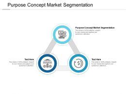 Purpose Concept Market Segmentation Ppt Powerpoint Presentation Summary Cpb