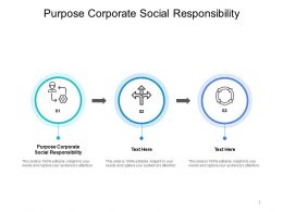 Purpose Corporate Social Responsibility Ppt Powerpoint Presentation Styles Slides Cpb
