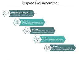 Purpose Cost Accounting Ppt Powerpoint Presentation Outline Template Cpb