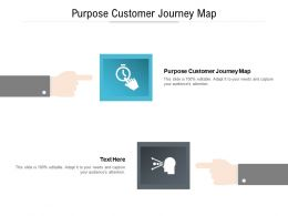 Purpose Customer Journey Map Ppt Powerpoint Presentation Professional Icon Cpb