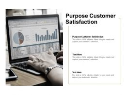 Purpose Customer Satisfaction Ppt Powerpoint Presentation Smartart Cpb