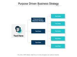 Purpose Driven Business Strategy Ppt Powerpoint Presentation Professional Slides Cpb
