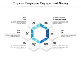 Purpose Employee Engagement Survey Ppt Powerpoint Presentation Portfolio Example Topics Cpb