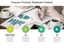 Purpose Financial Statement Analysis Ppt Powerpoint Presentation Slides Deck Cpb