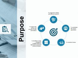 Purpose Five Icons Process Ppt Powerpoint Presentation Gallery Model