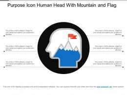 Purpose Icon Human Head With Mountain And Flag
