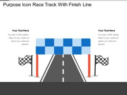 Purpose Icon Race Track With Finish Line