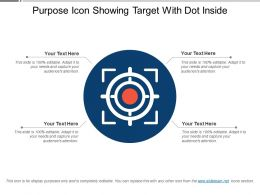 Purpose Icon Showing Target With Dot Inside