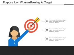 Purpose Icon Women Pointing At Target