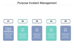 Purpose Incident Management Ppt Powerpoint Presentation Pictures Brochure Cpb