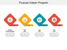 Purpose Kaizen Program Ppt Powerpoint Presentation Model Layout Cpb