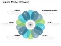Purpose Market Research Ppt Powerpoint Presentation Slides Maker Cpb