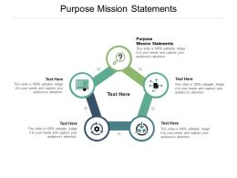Purpose Mission Statements Ppt Powerpoint Presentation Pictures Show Cpb